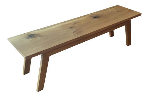 Handcrafted Reclaimed Oak Modern Angled Bench - touchGOODS