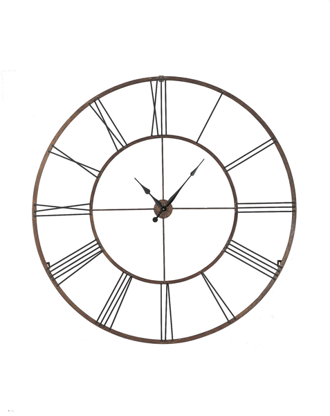 Over-sized Iron Roman Numeral Wall Clock | touchGOODS