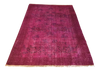 Vintage Over-Dyed Turkish Area Rug in Magenta 4′ × 6′6″ | touchGOODS
