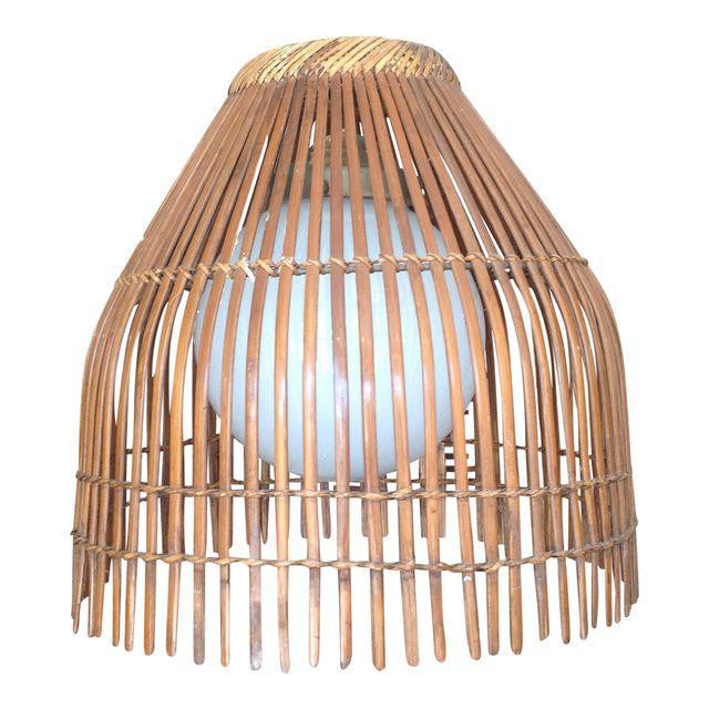 Vintage Bamboo Strip Hanging Pendant Light