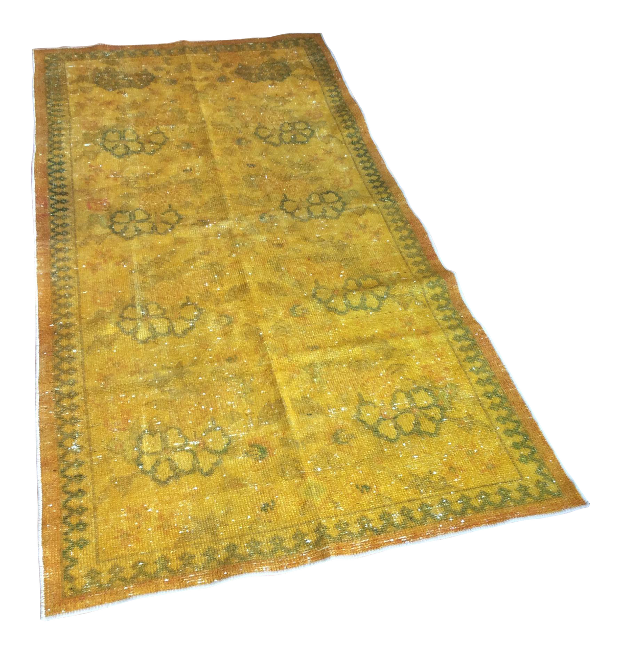 Yellow Over-Dyed Turkish Rug - 3′2″ × 6′5″ | touchGOODS