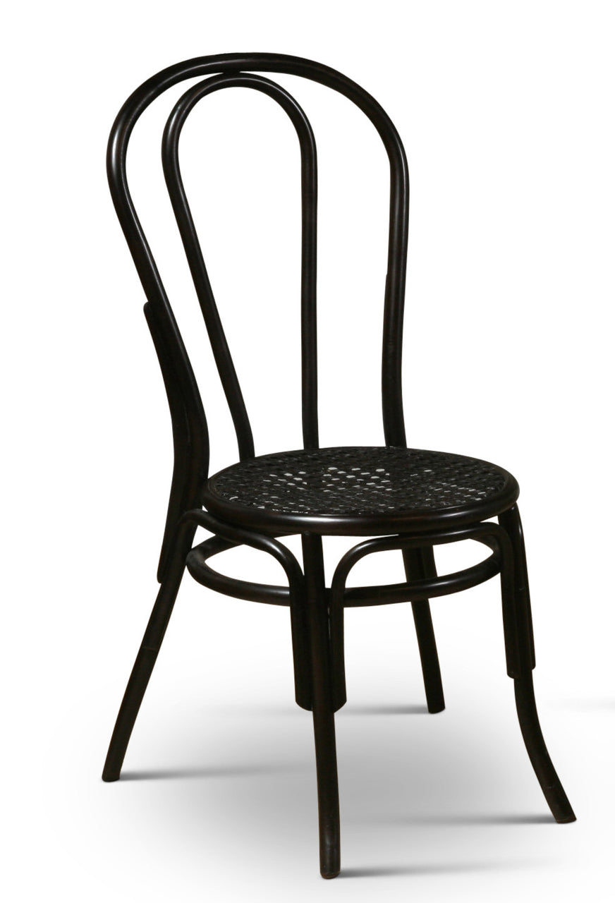 Thonet Style Bentwood Rattan Chairs in Black – touchGOODS