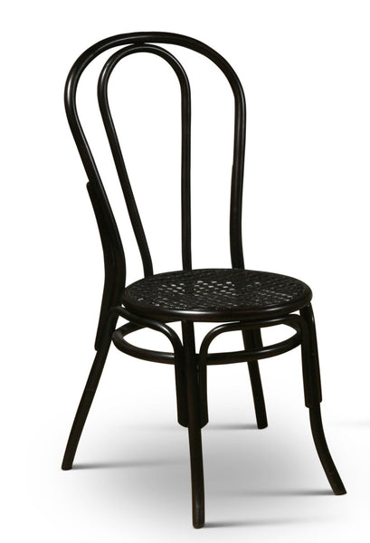Thonet Style Bentwood Rattan Chairs in Black - touchGOODS