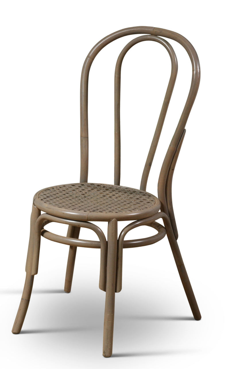 Thonet Style Bentwood Rattan Chairs in Grey - touchGOODS