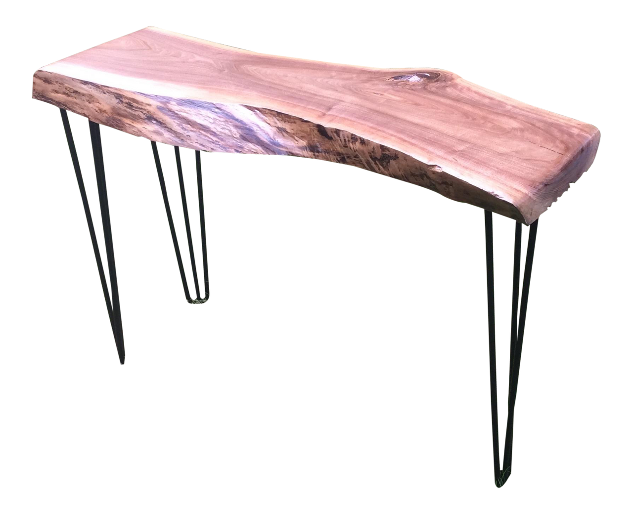 Live Edge Walnut Slab Console Table - touchGOODS