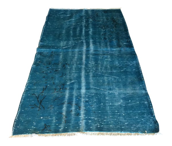 Vintage Over Dyed Turkish Area Rug 3′2″ × 6′4″ | touchGOODS