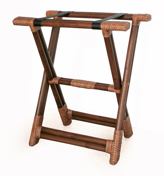 Rattan Folding Luggage Stand | touchGOODS
