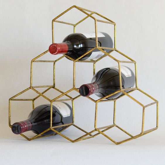 Gold Honeycomb Bottle Holder | touchGOODS