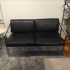 Vintage Retro Chrome and Leather Two Seater - touchGOODS