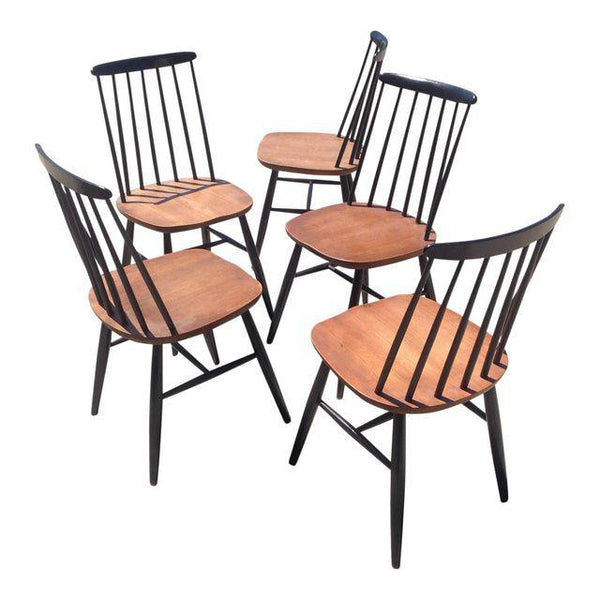Vintage Danish Modern Windsor Dining Chairs- Set of 5