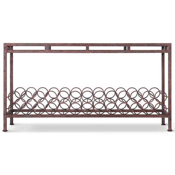 Wine Console Table With Glass - touchGOODS