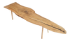 "Silver Maple Slab ""Bird"" Table/Bench 