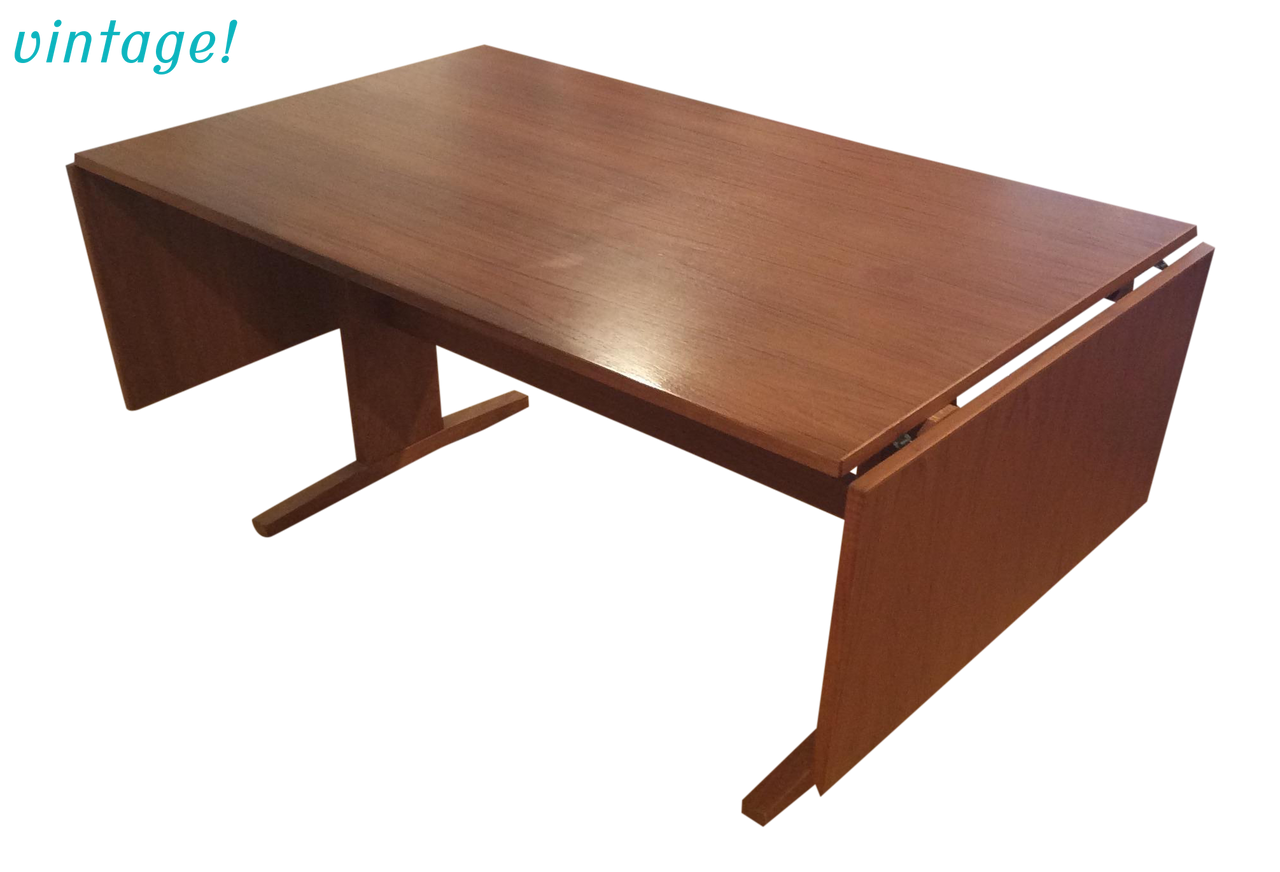 Mid-Century Danish Modern Teak Drop Leaf Dining Table | touchGOODS