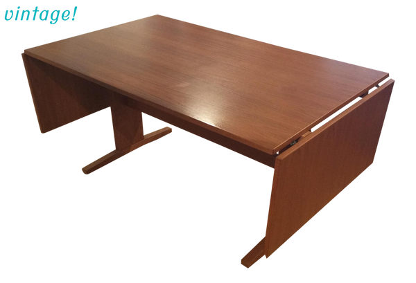 Mid-Century Danish Modern Teak Drop Leaf Dining Table - touchGOODS