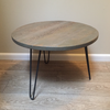 Distressed Gray Reclaimed Wood Side Table - touchGOODS