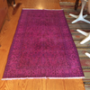 Vintage Over-Dyed Turkish Area Rug in Magenta 3′2″ × 6′4″ | touchGOODS