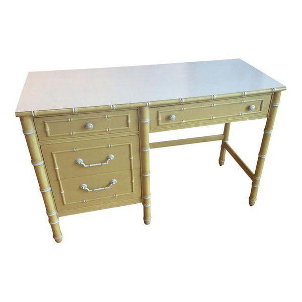 Thomasville Vintage Faux Bamboo Desk