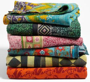 Assorted Vintage Indian Tribal Kantha Quilts | touchGOODS