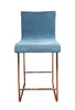 Retro Blue Woven Wire and Metal Counter Stools by Loom Italia - touchGOODS