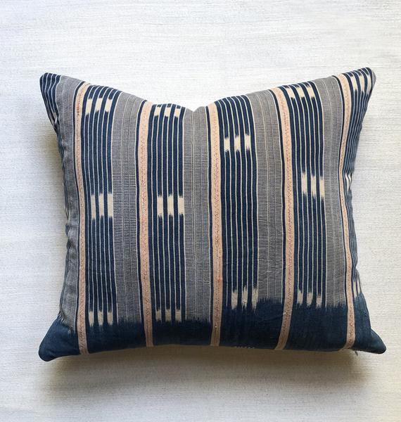 "African Baule Throw Pillow 24"" Square 