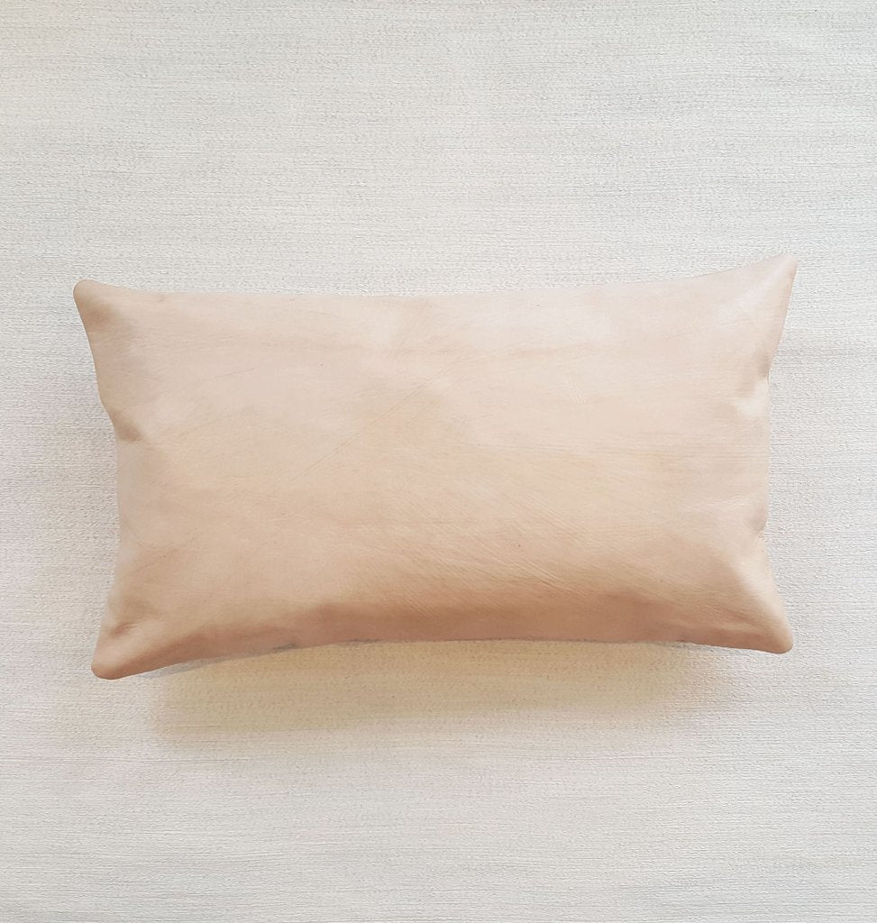 H Y D E: natural leather lumbar pillow | touchGOODS