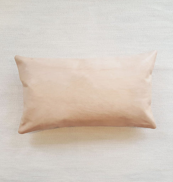 H Y D E: natural leather lumbar pillow