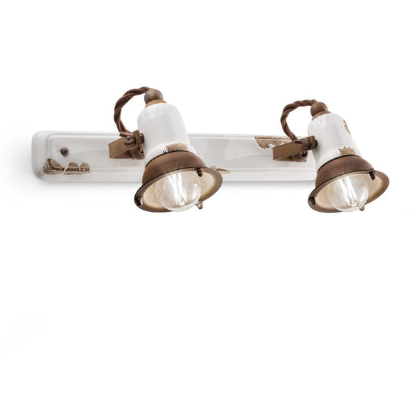 Ferroluce Loft Double Wall Light C1676 | touchGOODS