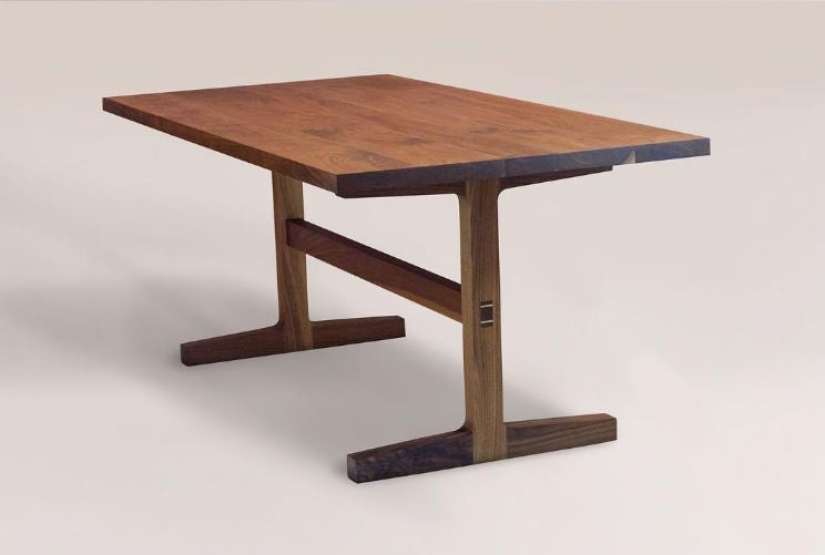 Custom Trestle Dining Table in Black Walnut | touchGOODS