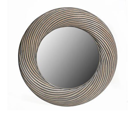 Large Twisted Rattan Round Mirror | touchGOODS