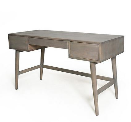 Weathered Grey Mid-Century Modern Style Desk - touchGOODS