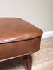 Vintage Retro Brown Vinyl Footstool Ottoman