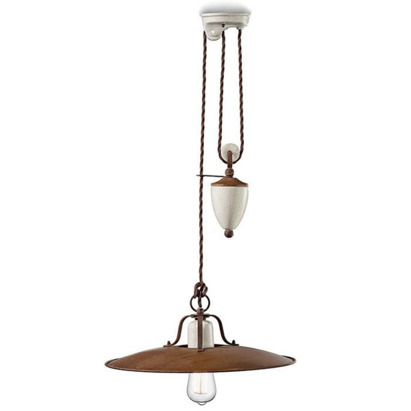 Ferroluce GRUNGE Pulley Pendant Light c1436 | touchGOODS