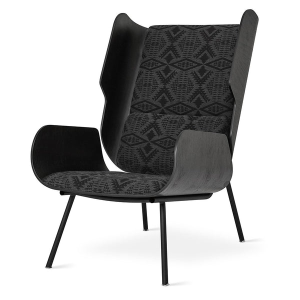 Gus* x Pendleton Elk Chair in Sunbrella Diamond River Charcoal