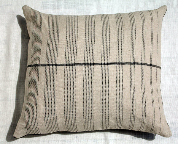 "Sol Pillow ~ White with Black Stripes 20"" x 23"""