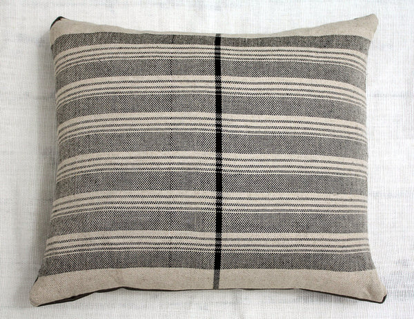 "Sol Pillow ~ Ticking Stripe 18"" x 16"""
