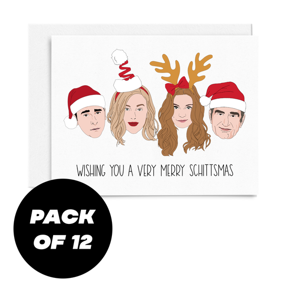 Very Merry Schittsmas Card - Pack of 12