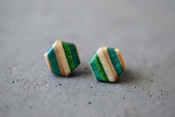 HEXAGON STUD EARRINGS | touchGOODS