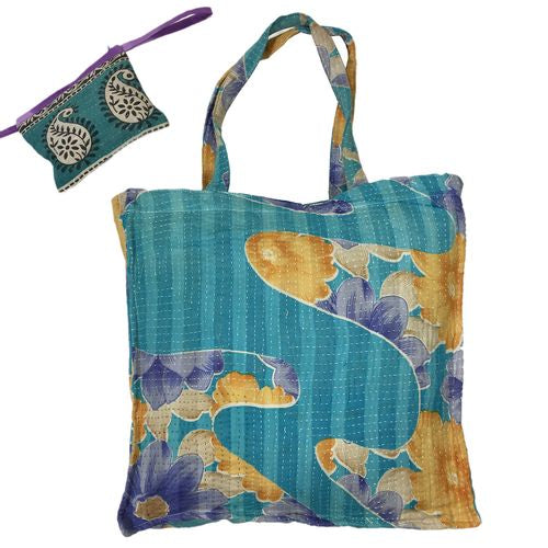 Assorted Bohemian Kantha Tote Bags | touchGOODS