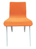 Retro Orange Wicker and Metal Dining Chairs by Loom Italia | touchGOODS