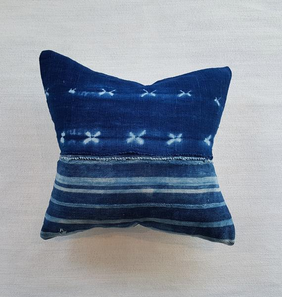 OCEANA: mixed indigo pillow