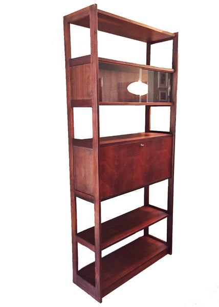 Mid-Century Rosewood Bar Cabinet & Bookcase - touchGOODS