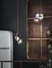 Ferroluce Loft Wall Light with Cage C1675/1 | touchGOODS