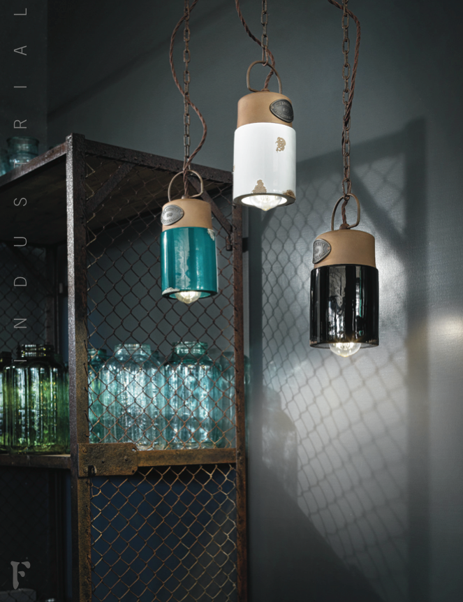 Ferroluce Industrial Pendant Light C1620 | touchGOODS