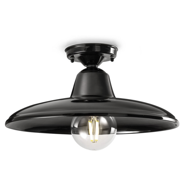 Ferroluce Black & White Ceiling Light C2333