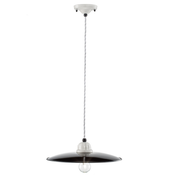 Ferroluce Black & White Ceramic Pendant Light C1610-C1611-C1612 | touchGOODS