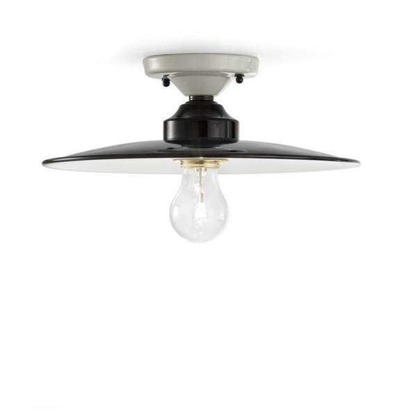 Ferroluce Black & White Ceramic Ceiling Light C1613-C1614-C1615 | touchGOODS