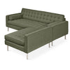 Gus* Modern Spencer LOFT Bi-Sectional (Stainless Base)