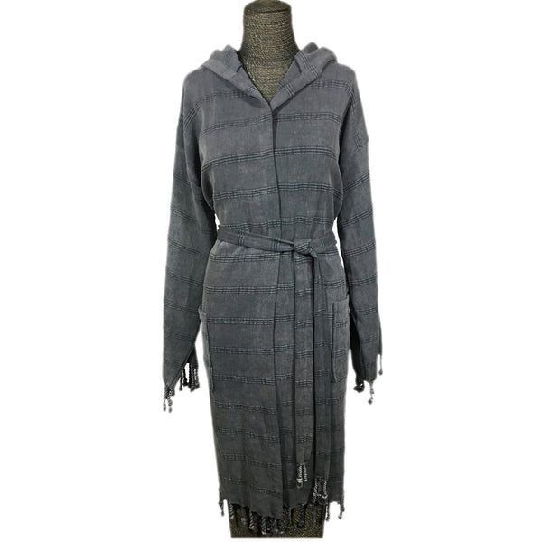 Turkish Cotton Stonewash Robe | touchGOODS