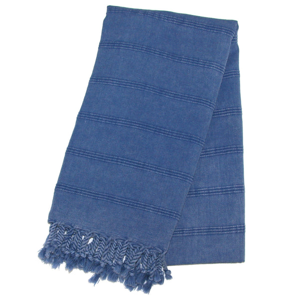Stonewash Turkish Bath Towel - Denim | touchGOODS