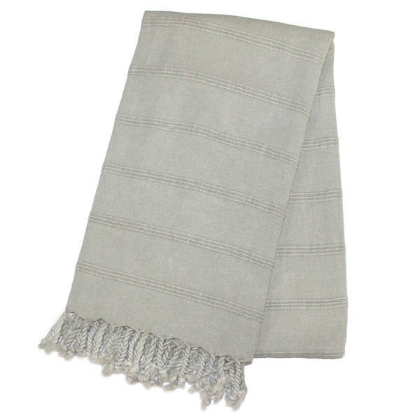 Stonewash Turkish Bath Towel - Grey | touchGOODS